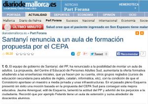 Diario de Mallorca, dissabte 22 d'octubre de 2011