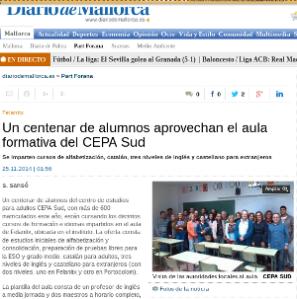 Diario de Mallorca. 25-11-2014.