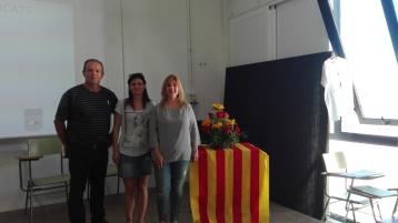 El director amb les regidors de Campos i ses Salines